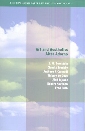 Art and Aesthetics after Adorno Paperback  by J. M. Bernstein