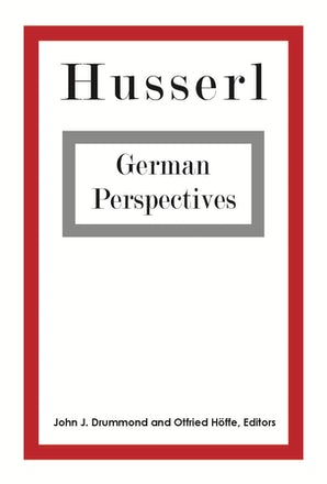 Husserl: German Perspectives Couverture du livre